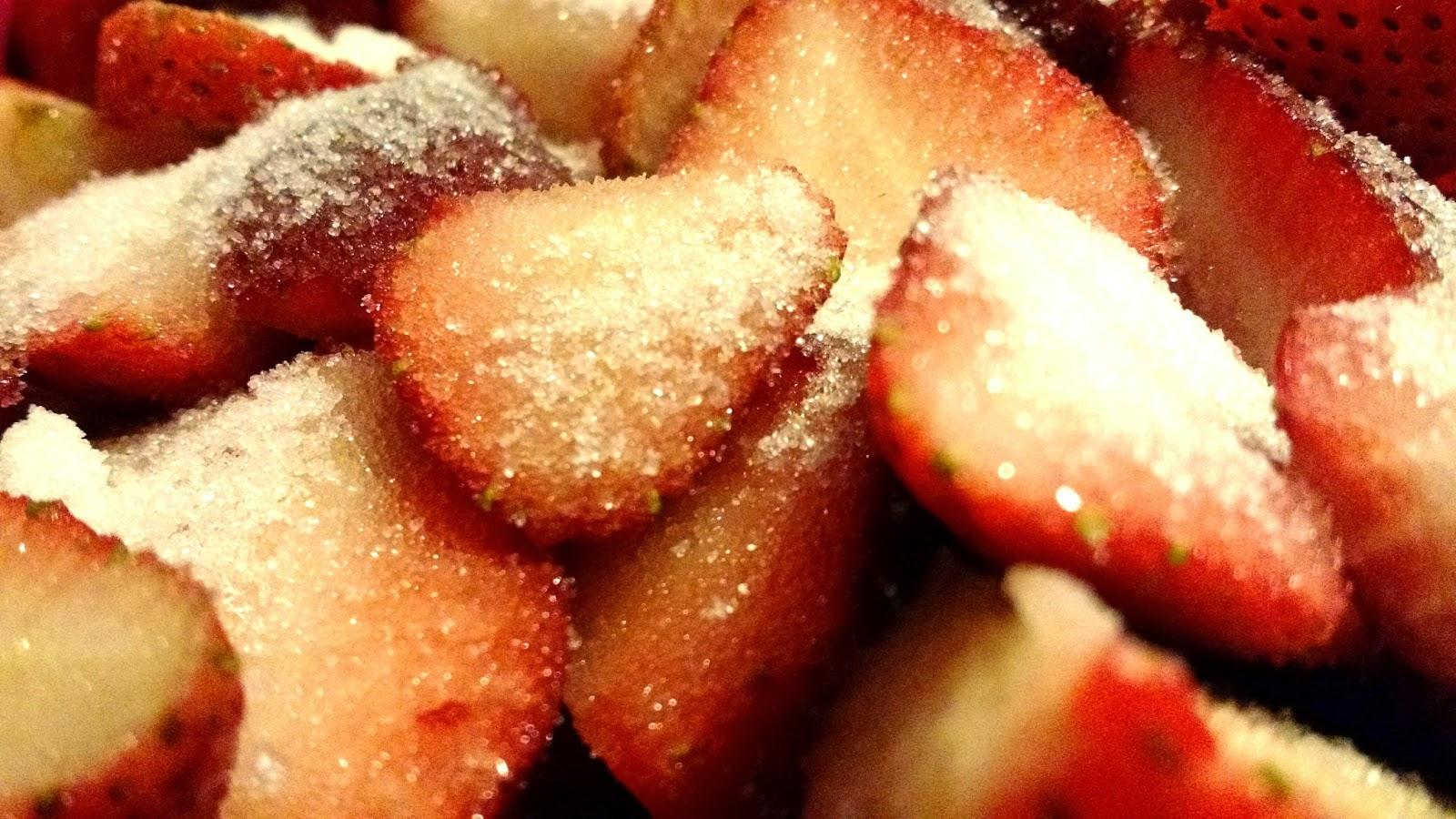 Sugary strawberries