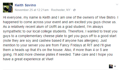 Message from Keith
