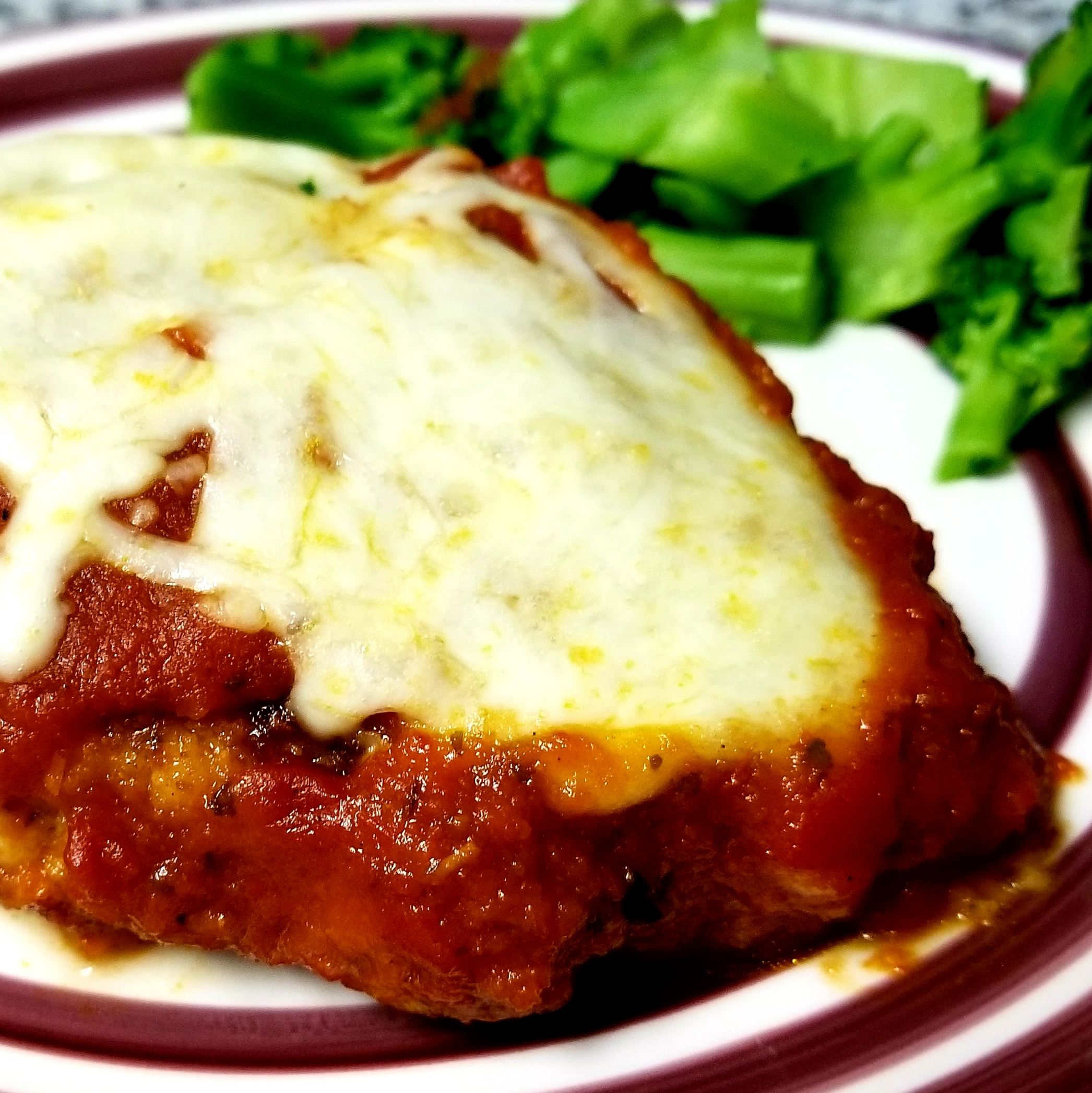 Mozzarella Stuffed Chicken Parmesan