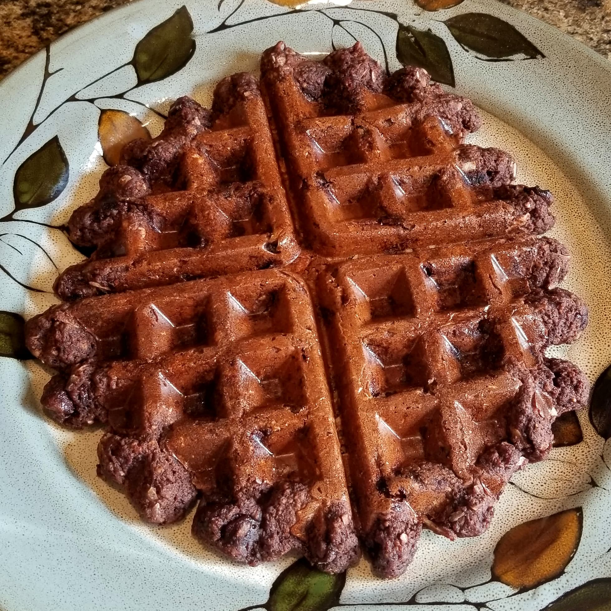 Healthy Fudge Brownie Waffles
