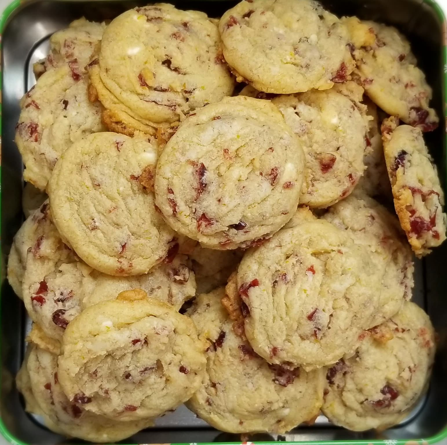Cranberry Orange and White Chocolate Drop Cookies