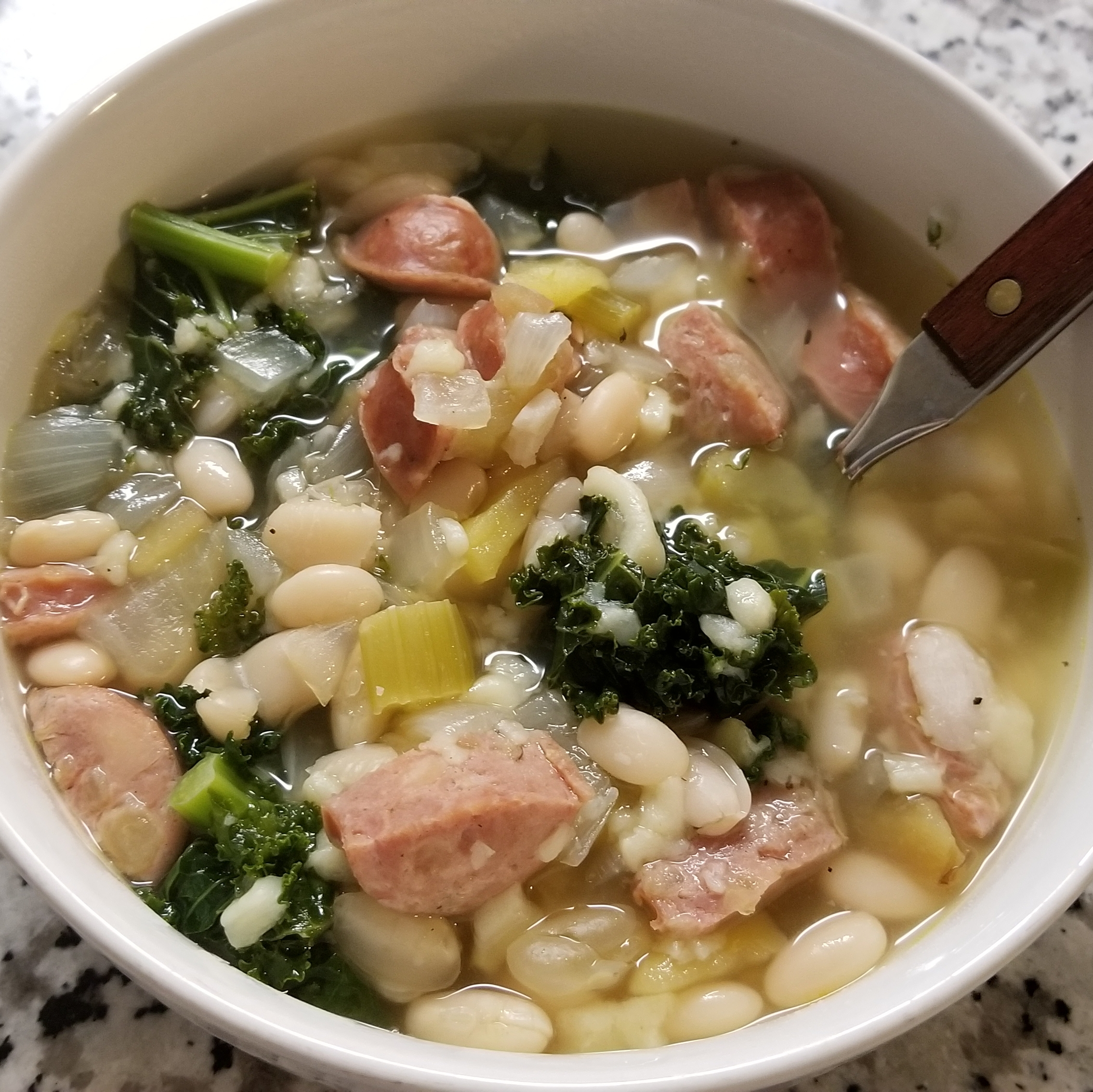 Slow Cooker Sausage and Greens Soup