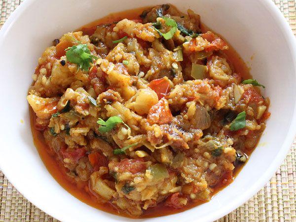 Baingan Bharta (Mashed Eggplant)