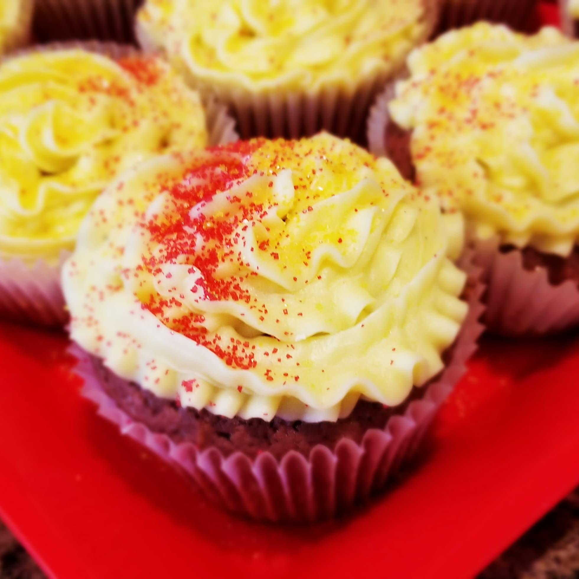 """Pink"" Velvet Cupcakes"