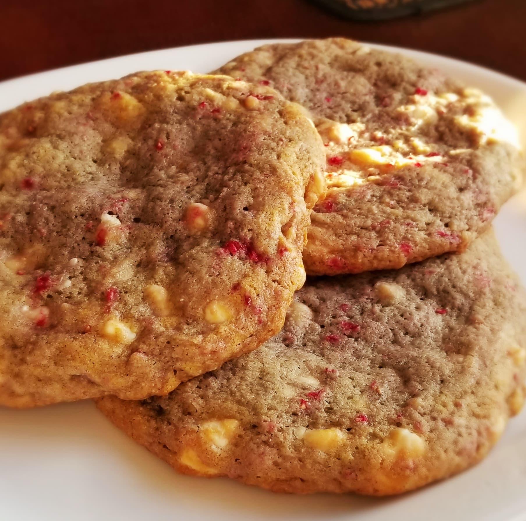 Jumbo White Chocolate Raspberry Cookies